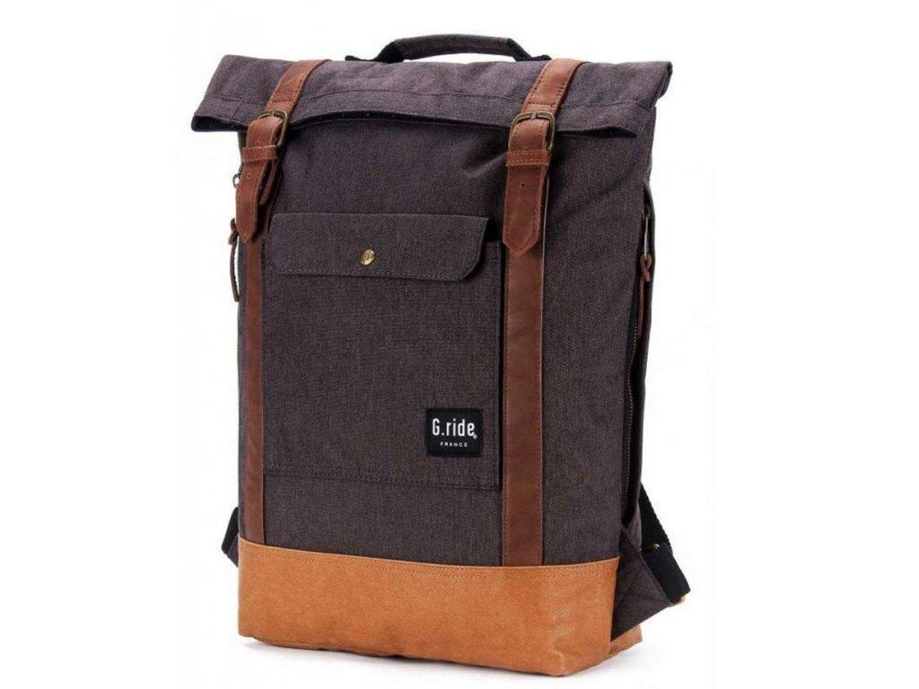 Textilní batoh  G.ride France - hnědý