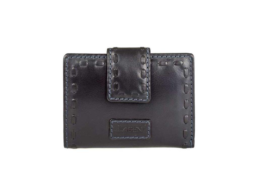 Kožená černá peněženka s přezkou - Lagen