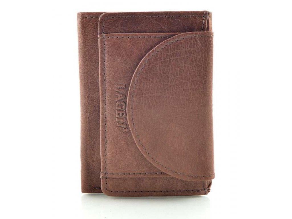 Mini kožená peněženka Lagen - hnědá