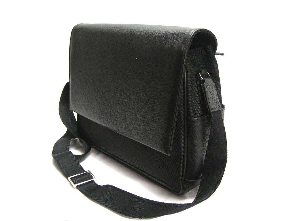 Klopnová taška přes remeno - černá