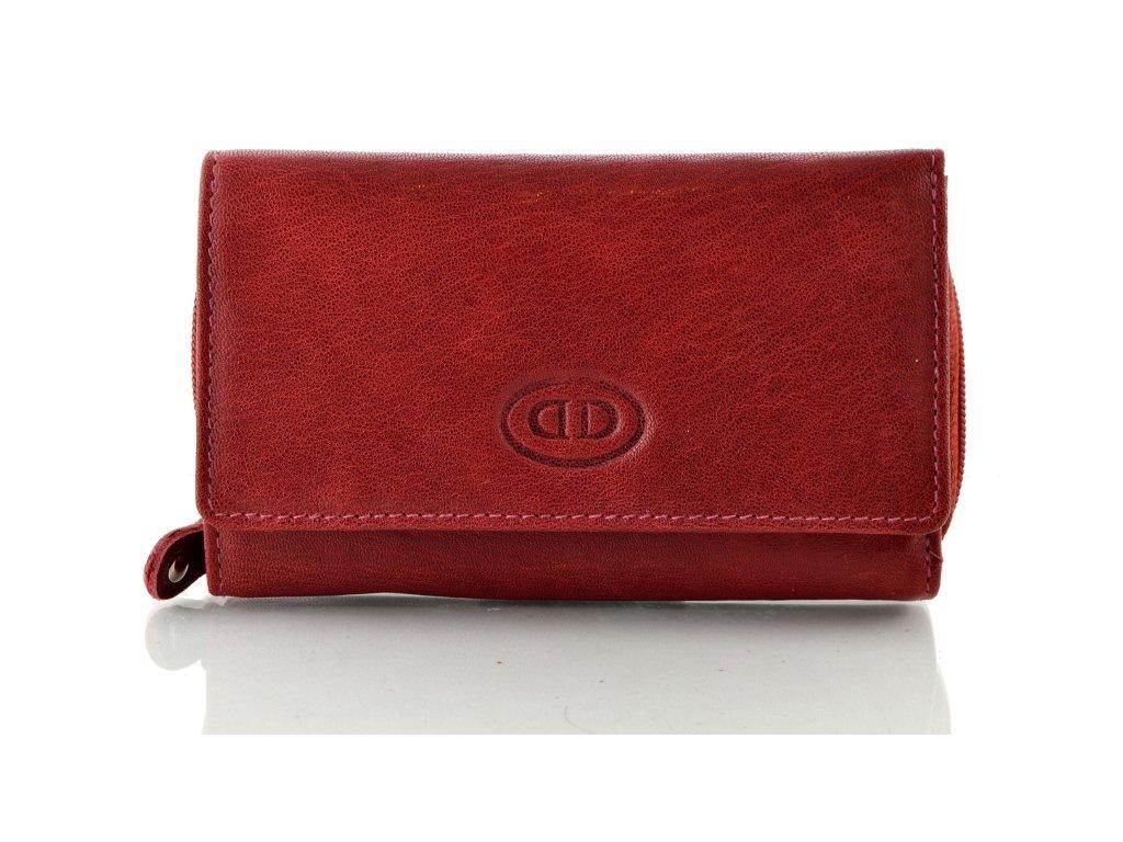 Dámská kožená peněženka - portwine