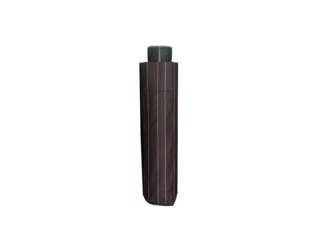 Pánský deštník Doppler mini fiber - černý proužek