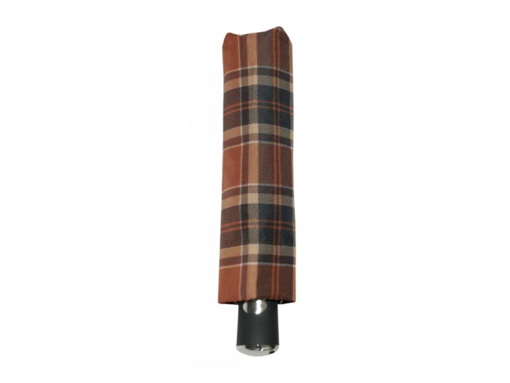 Deštník doppler carbon automatic - hnědé káro