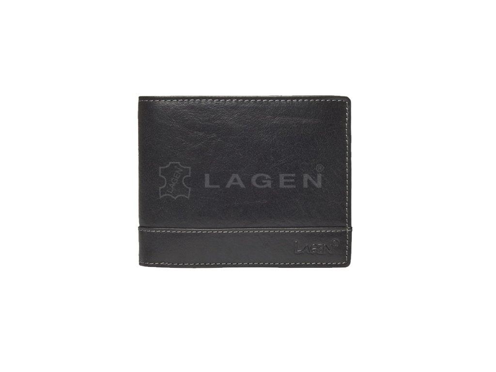 Kožená pánská peněženka Lagen - černá
