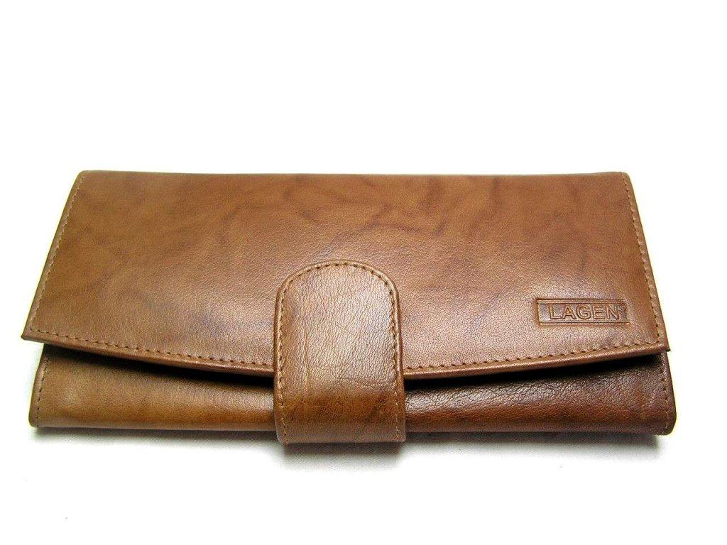 Dámská peněženka s přezkou Lagen - hnědá