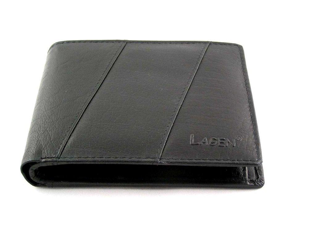 Elegantní kožená peněženka Lagen - černá