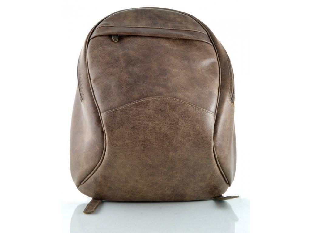 Dámský kožený batoh Hajn - hnědý rustik