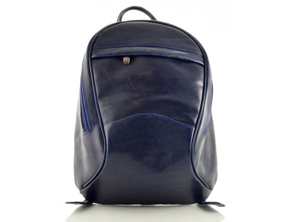 Dámský kožený batoh Hajn - modrý