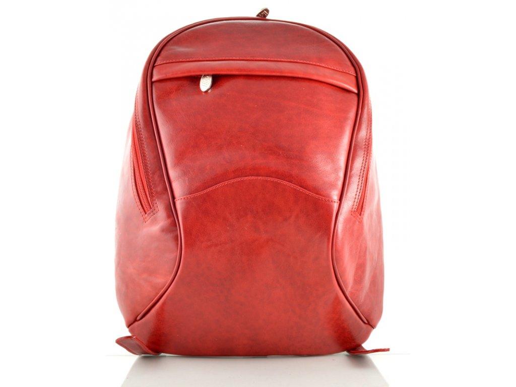Dámský kožený batoh Hajn - červený