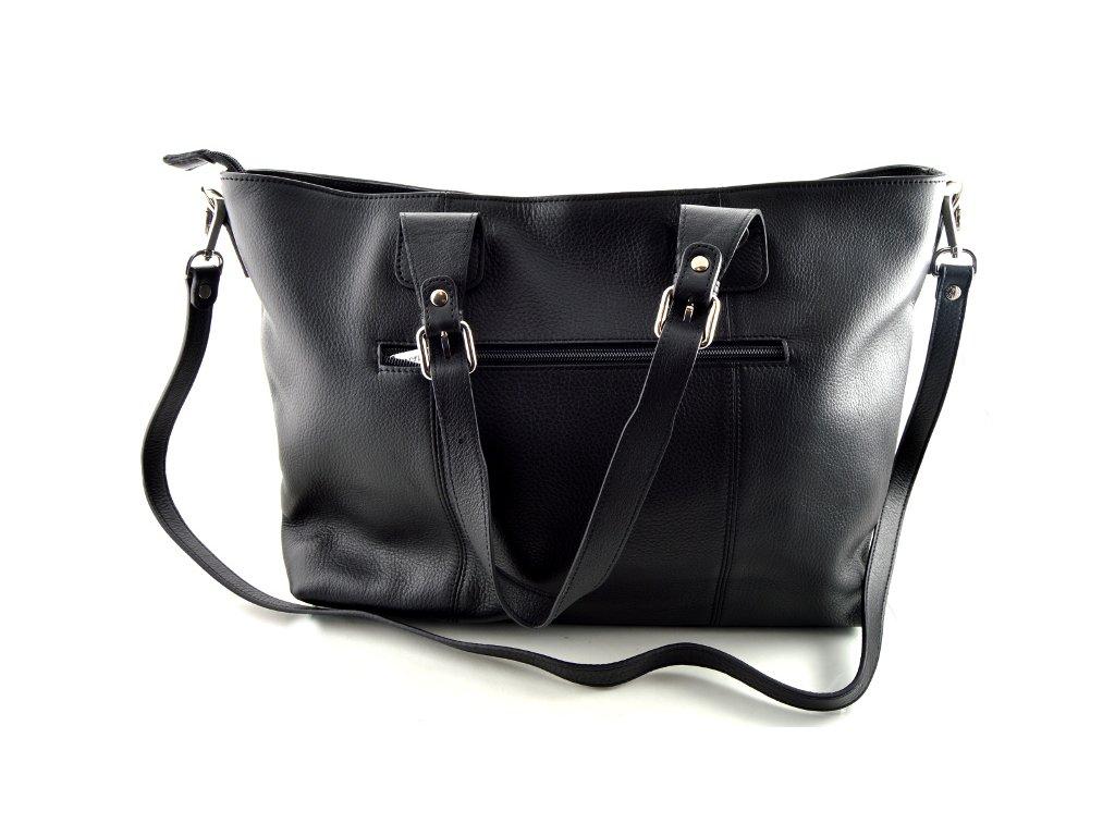 Velká kožená kabelka Katana - černá