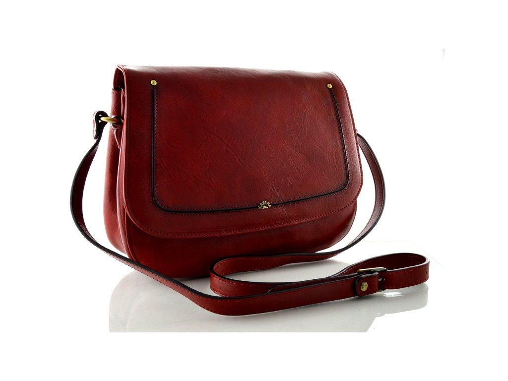 Klopnová kabelka Katana - červená