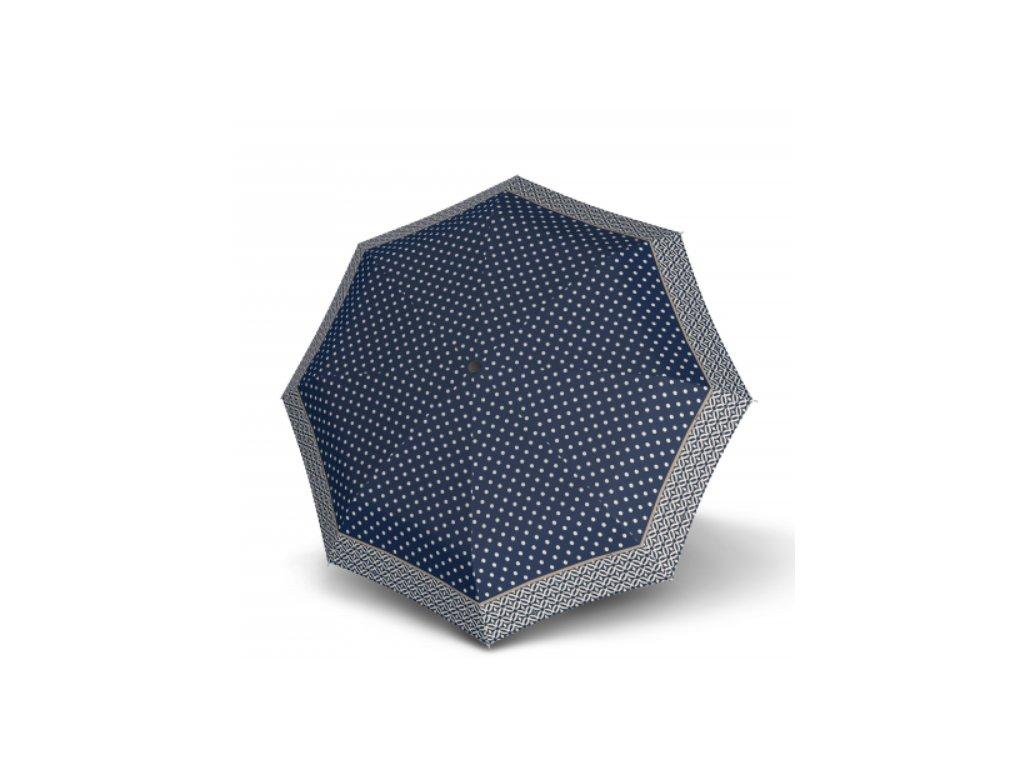 Větruodolný dámský deštník carbonsteel - modrý vzor