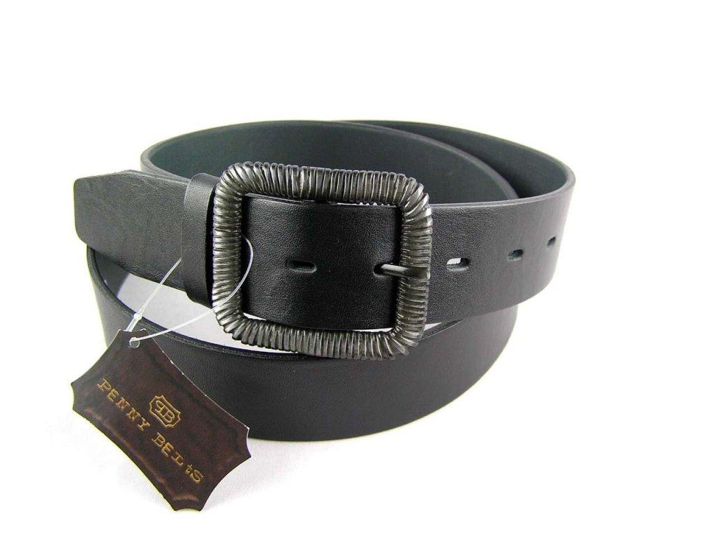 Šedý kožený dámský opasek - Penny Belts