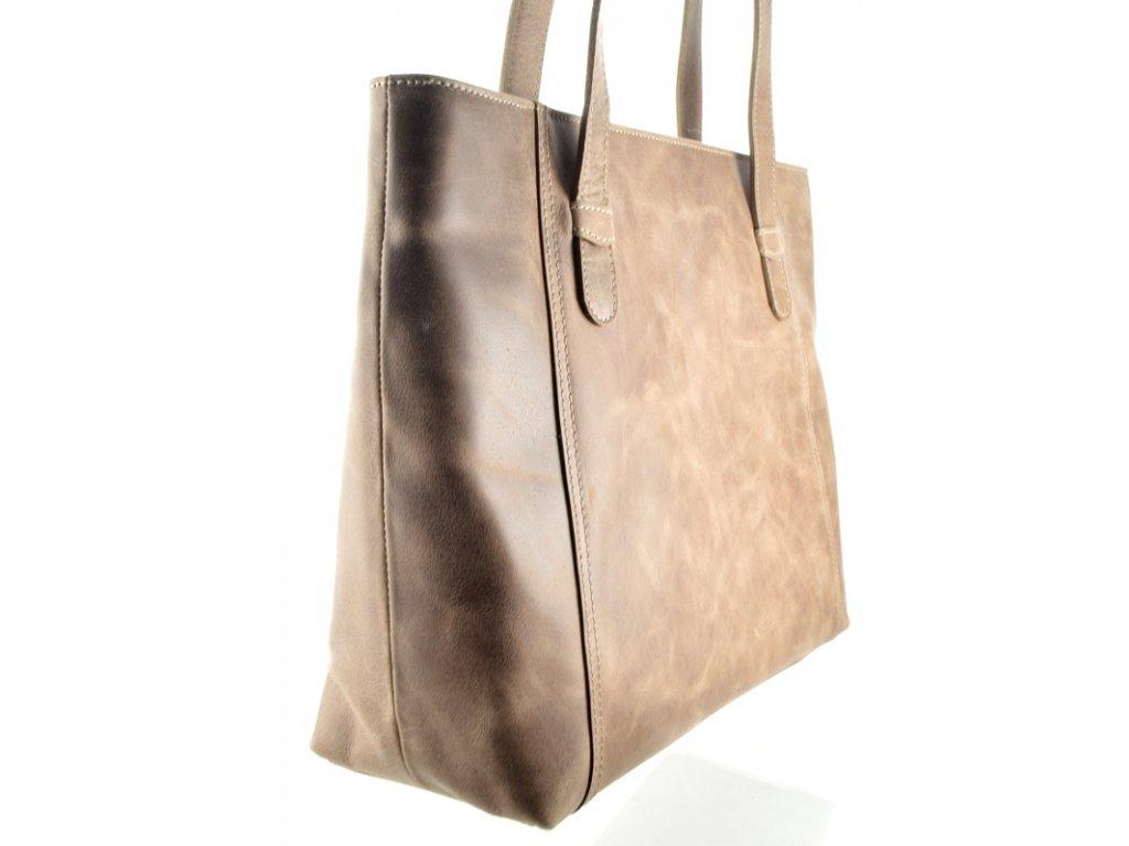 Nadčasová kožená kabelka Silvercase - oříšek