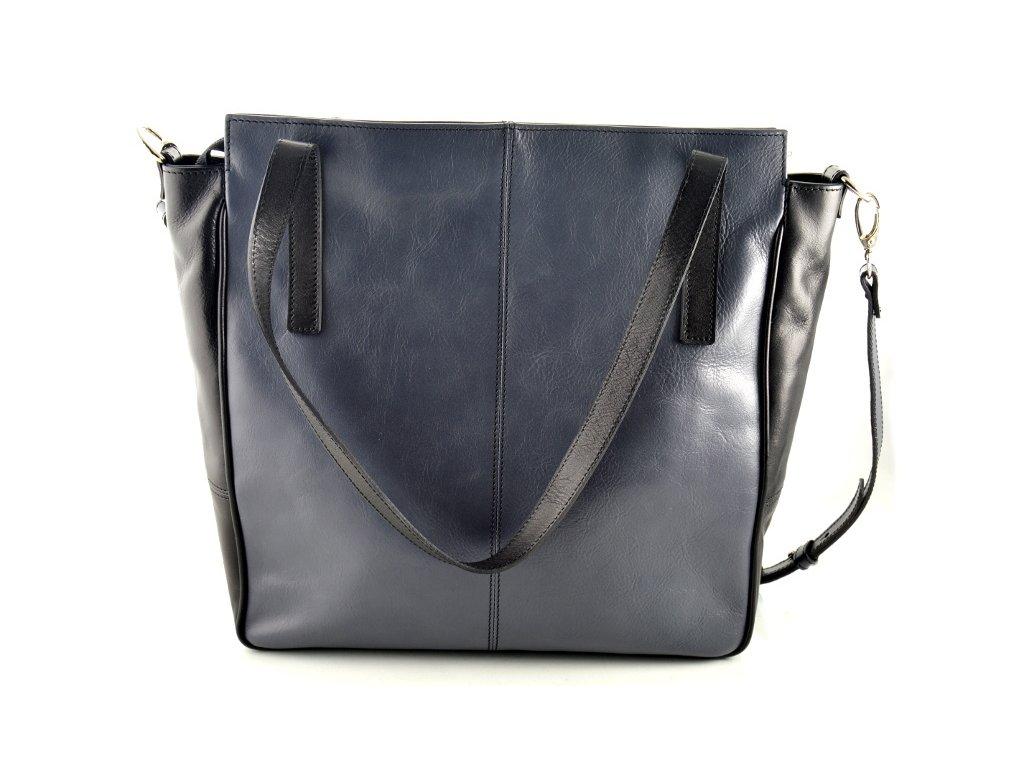 Luxusní kožená kabelka Silvercase - šedo černá