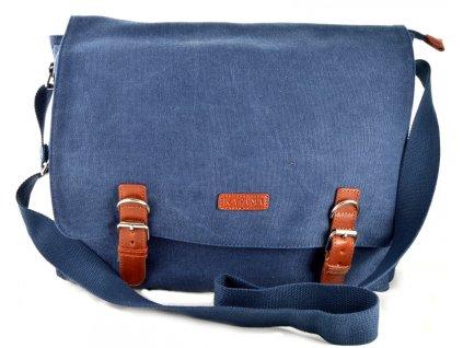 Pánský messenger Katana z pevného textilního materiálu - modrý