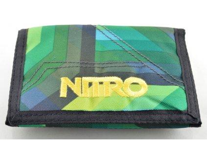 Zelená peněženka se žlutým nápisem Nitro