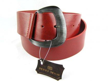 Červený široký dámský opasek - Penny Belts