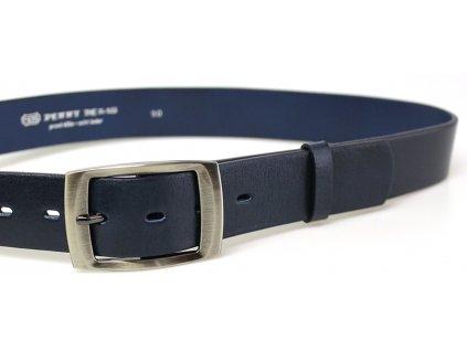 Modrý kožený opasek Penny belts