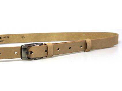 Béžový úzký dámský opasek - Penny Belts