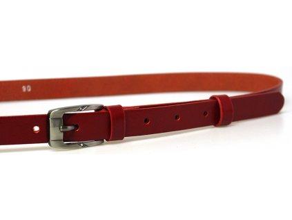 Červený úzký dámský opasek - Penny Belts