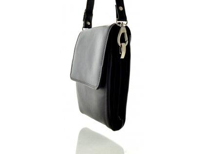 Klopnová příruční taška přes rameno ARWEL - černá