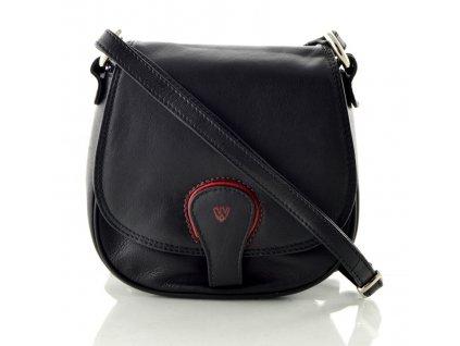 Kožená klopnová kabelka Arwel - černá