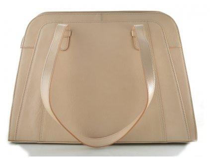 Velká manažerská kožená kabelka Silvercase - pudr