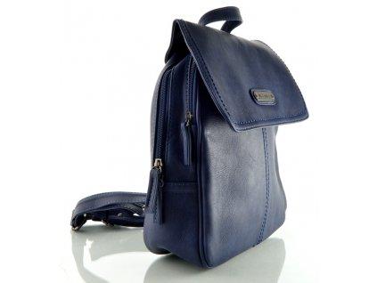 Koženkový batůžek Melanie Paris - modrý