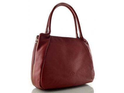 Velká kožená kabelka Katana - červená