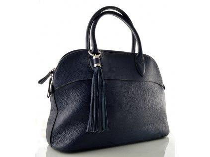 Kožená kabelka do ruky Katana - tmavě modrá