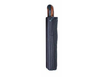 Pánský luxusní deštník carbon auto open - černý proužky