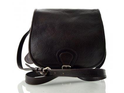 Klopnová lovecká kožená taška Silvercase - tmavě hnědá