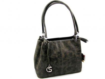 Kožená kabelka Silvercase - khaki