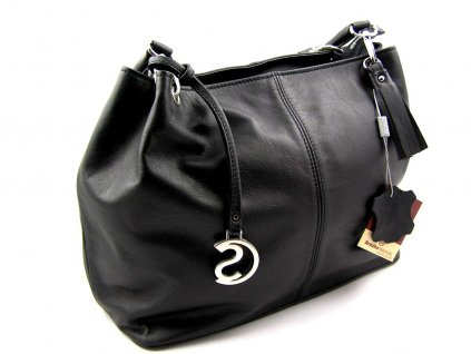 Kožená kabelka Silvercase - černá