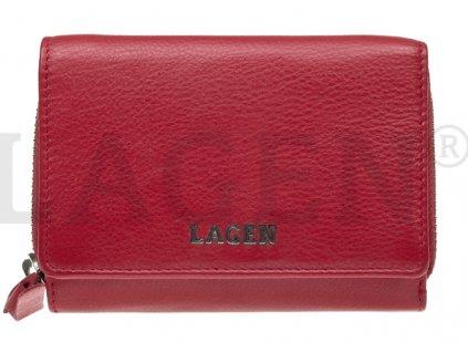 Dámská kožená peněženka Lagen - červená