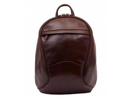 Dámský kožený batoh Hajn - tmavě hnědý
