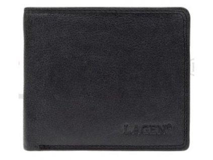 Menší černá pánská kožená peněženka - RFID Save