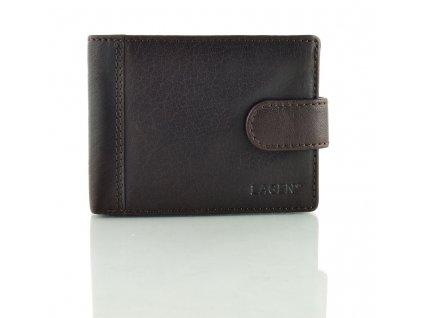 Pánská peněženka Lagen s přezkou - tmavě hnědá