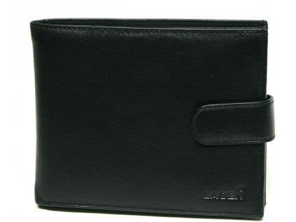 Kožená peněženka Lagen s přezkou - černá