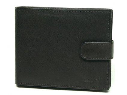 Černá pánská kožená peněženka s přezkou