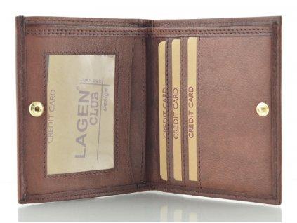 Malá hnědá kožená peněženka