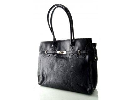 Manažerská kožená kabelka KATANA - černá