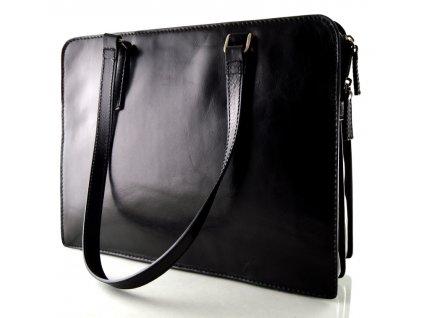 Černá manažerská kabelka Elega