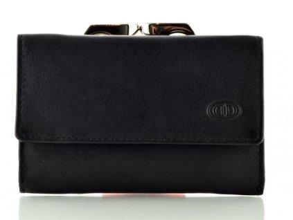 Kožená dámská peněženka s rámečkem - černá