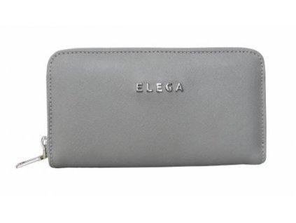 Kožená peněženka ELEGA - šedá