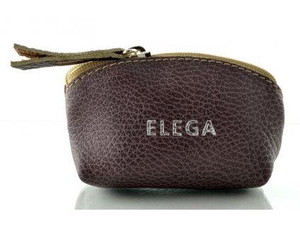Kožená klíčenka Elega - fialová