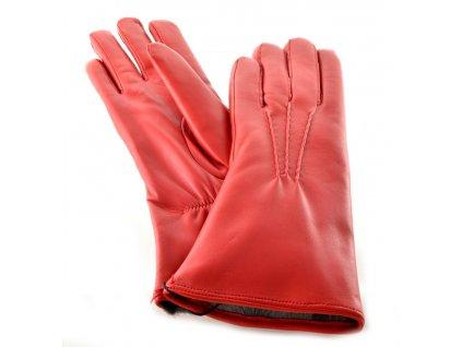 Teplé kožené dámské rukavice s kožešinkou