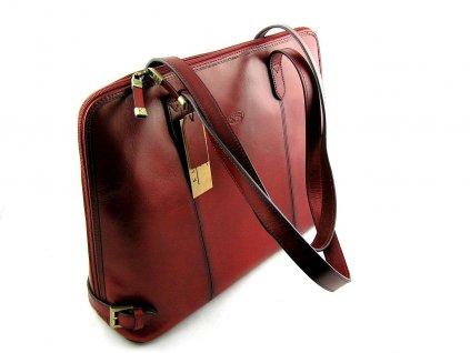 Kožená kabelka KATANA - červená