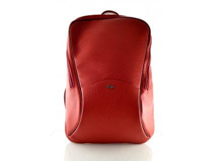 Vysoký kožený batoh Hanj - vínový